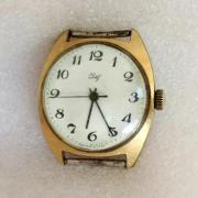 Мужские наручные часы Свет СССР 2609 НА позолоченные