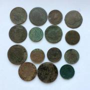 Комплект старинных монет Австро-Венгрии № 39 - 15 шт