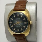 Мужские наручные часы Полет на механике с позолотой