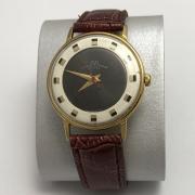 Мужские наручные часы Луч СССР в позолоте двухцветный циферблат