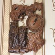 Деревянные настенные часы - резьба