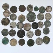 Старинные европейские средневековые монеты №7 - комплет 9 шт