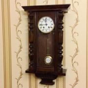 Старинные немецкие настенные часы конца 19 века