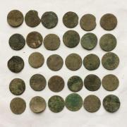 Комплект средневековых шелягов Казимира - 30 шт № 31