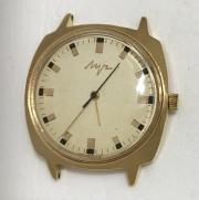 Мужские наручные часы Луч СССР 2209 позолоченные 23 камня