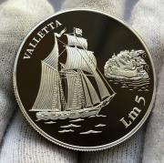 Серебряная монета Мальты