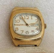 Мужские наручные часы Ракета СССР 2628 Н рифленный циферблат в позолоте
