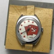Женские наручные часы Заря СССР позолоченные AU 21 камень
