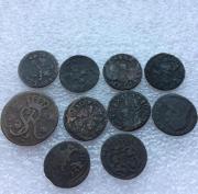 Старинные европейские средневековые монеты №8 - комплет 10 шт