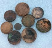 Старинные монеты № 9 царской России - 9 шт