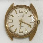 Мужские наручные часы Восток СССР серебристые в позолоте
