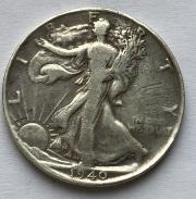 Монета полдоллара серебро