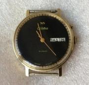Мужские наручные часы Слава СССР позолоченные два календаря