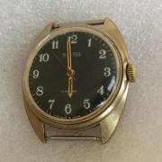 Мужские наручные часы Восток СССР черные позолота дешево