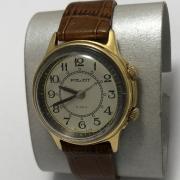 Мужские наручные часы Полет СССР с будильником позолоченные