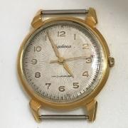 Наручные часы Амфибия СССР антимагнитные бочка синие