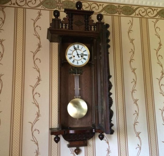 Антикварные настенные часы gustav becker е.