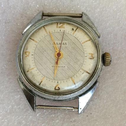 Купить мужские наручные часы Алмаз СССР ЧЧЗ 18 камней в Украине и ... 77cfa3f6827